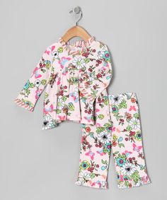 Take a look at this White Floral Top & Pants - Infant by Everyday Nay on #zulily today!
