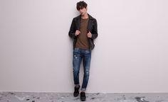 Pull&Bear - man - jeans - regular fit jeans - navy - 09685519-V2015