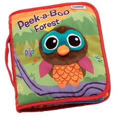 The Lamaze Book program offers a comprehensive collection of developmental books. Washable fabrics, durable pages, bright contrasting colors, and specially designed developmental features that make it fun for babies and toddlers to discover, learn, and read. Learn about different animals in the forest. Each page features a fun peek-a-boo flap. Crinkly plush owl on cover, stimulating bright colors. Soft book. Age grade 12 mos.+