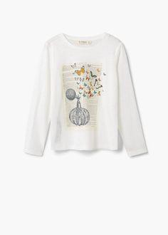 Camiseta jaspeada estampada | MANGO KIDS