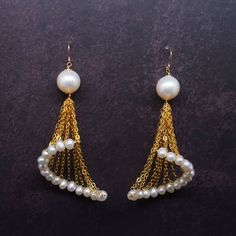 Pearls and chain earrings DIY