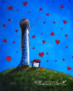 Love Letters Surreal Art Prints ERBACK ART PRINT by shawnaerback, $10.00