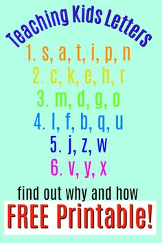 Teaching Letter Recognition - what order to introduce letters - How Wee Learn - - The order for teaching letters to preschoolers straight from a teacher! Surprisingly NOT ABC order, but makes so much sense. Love the alphabet activities too. Teaching The Alphabet, Teaching Phonics, Preschool Literacy, Preschool Letters, Letter Activities, Preschool Lessons, Teaching Kids, Alphabet Letters, Alphabet Games
