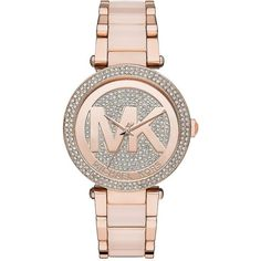Michael Kors Parker Blush Acetate and Rose Goldtone Stainless Steel... (2 480 SEK) ❤ liked on Polyvore featuring jewelry, watches, accessories, bracelets, blush, stainless steel jewelry, michael kors jewelry, michael kors, stainless steel wrist watch and watch bracelet