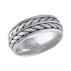 Hand Made Silver Rope Design Band