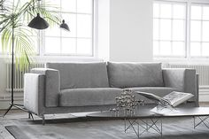Pictured: Bemz cover for Nockeby three seater sofa in zaragoza vintage velvet zinc designed by Designers Guild Styled by Frida Ramstedt, photographed by Bodil Panama, Ikea Norsborg, Hacks Ikea, Ikea Sofa, Three Seater Sofa, Sofa Frame, Furniture Legs, Garden Furniture, Designers Guild