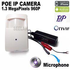 960P mini ip camera PIR Style Motion Detector pir camera ip 1.3MP ONVIF P2P Plug and Play Mini pir camera ip mini POE IP Camera #Affiliate