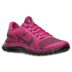 Women's Nike Free 3.0 v5 PRM Running Shoes| FinishLine.com | Bright Magenta/Black