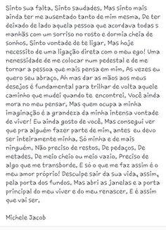 """Sua falta  Como uma Única  """"Porque eu somos feitas de poesia!"""" Uma página escrita de alma e coração.  fan page https://www.facebook.com/ninaemika blog http://comoumaunica.blogspot.com.br Instagran @comoumaunica16"""