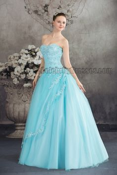 blue strapless ball gown beaded quinceanera dresses in light blue and white wedding dresses