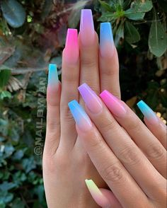 10 Creative Nail Designs for Short Nails to Create Unique Styles Neon Green Nails, Pink Ombre Nails, Summer Acrylic Nails, Best Acrylic Nails, Acrylic Nail Designs, Nail Art Designs, Neon Nail Art, Purple Nail Designs, Colorful Nails