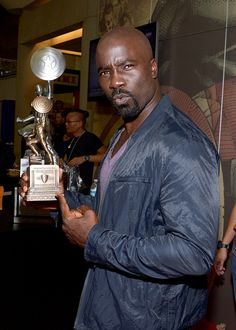 Christmas arrived early for Luke Cage fans when the trailer for the upcoming Marvel Netflix series premiered at Comic-Con in San Diego. Mike Colter, who plays Hey Gorgeous, Beautiful Men, Mike Colter, The Mike, Living Under A Rock, Luke Cage, Image Fun, Jessica Jones, Hollywood