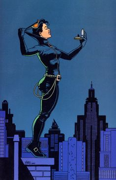 "Catwoman pin-up from ""Selina's Big Score"", 2003 by Jaime Hernandez"