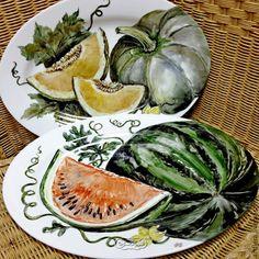 """Купить Блюдо """"Арбуз"""" - ярко-красный, тарелка, блюдо, блюдо для фруктов, блюдо фарфоровое"""
