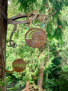 I am so excited to reveal my new studio sign! This will help folks find me in the woods when they come to pick up pottery. Handcrafted, custom made. The Potter's Wheel, Handmade Pottery, Ferns, Signage, Stoneware, Woods, Folk, Artisan, Outdoors