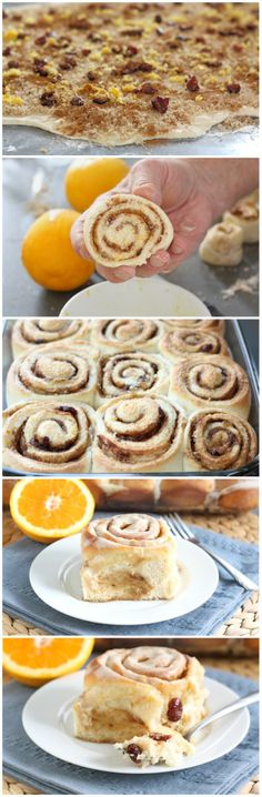 Cranberry Orange Cinnamon Rolls Recipe on twopeasandtheirpod Just Desserts, Delicious Desserts, Dessert Recipes, Yummy Food, Orange Cinnamon Rolls, Apple Cinnamon, Best Cinnamon Roll Recipe, Scones, Rolls Recipe