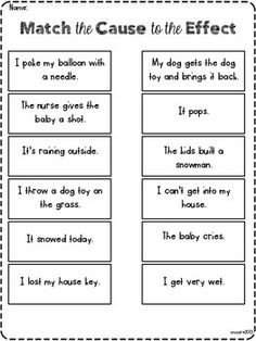 The Wizard of CAUSE and EFFECT *freebie* Comprehension Worksheets, Comprehension Strategies, Reading Strategies, Reading Skills, Reading Comprehension, Cause And Effect Chart, Cause And Effect Worksheets, Cause And Effect Activities, Kindergarten Reading