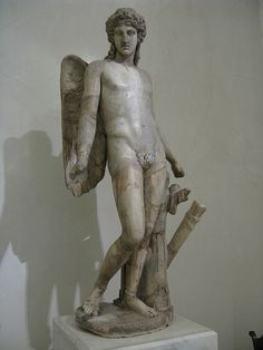 Eros.  Roman work, 2nd century AD; after the Greek original of the first half of the 4th century BC. Marble. Hermitage Museum, St Petersburg