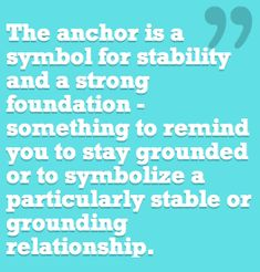 "The Anchor - this helps explain why there is an anchor (whose job it is to sink) on my ""refuse to sink/big sis"" tattoo."