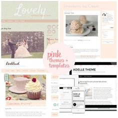 friday faves 9 lovely design inspiration think pink blog templates freeblogger