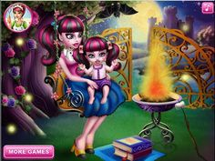 Monster High Draculaura Baby Wash - Monster High Baby Care Games