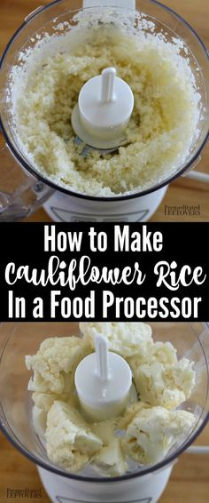 Learn How to Make Cauliflower Rice using these tips on how to rice cauliflower 4 ways, how to cook it, how to store it, plus how to freeze cauliflower rice. How To Cook Cauliflower, Frozen Cauliflower Rice, Riced Cauliflower, Cauliflower Recipes, Riced Califlower Recipes, Rice Recipes For Dinner, Lunch Recipes, Indian Veg Recipes, Make Ahead Lunches