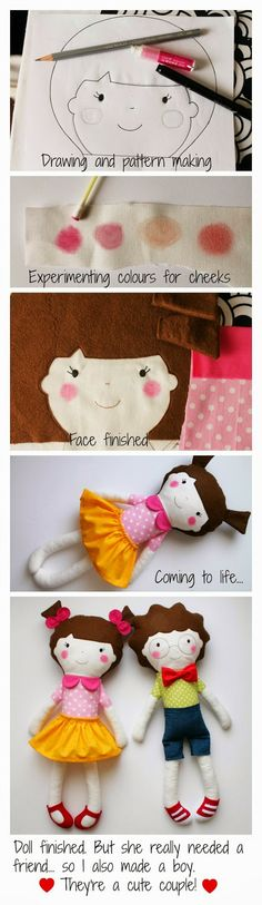 blita: O que fiz no fim-de-semana passado :: What I di… blita: Was ich letztes Wochenende gemacht habe # 2 :: Was ich di … Doll Toys, Baby Dolls, Fabric Toys, Sewing Dolls, Doll Tutorial, Soft Dolls, Diy Doll, Cute Dolls, Stuffed Toys Patterns