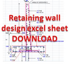Retaining Wall Design Excel Sheet