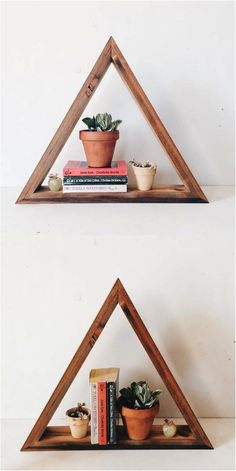 I just love this shelf! It makes a boring shelf so much more interesting and beautiful! | Made on Hatch.co by independent makers & designers