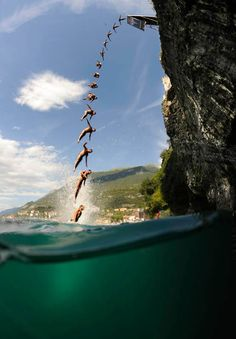 Cliff diving / Corsica, France