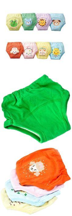 [Visit to Buy] 4 X Baby Toddler Girls Boys Cute 4 Layers Waterproof Potty Training Pants reusable 4 Size Random Send #Advertisement