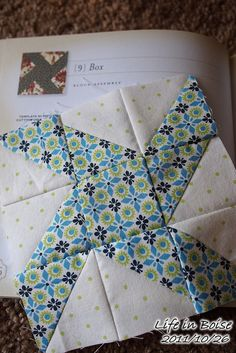 Cute idea for half square triangle blocks.