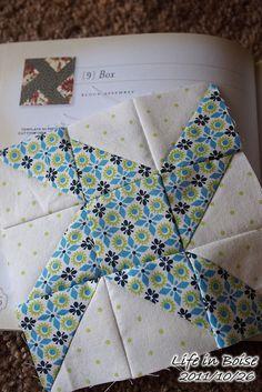 Cute idea for half square triangle blocks.