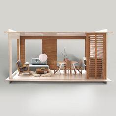 Arkitekttegnet dukkehus - Miniko