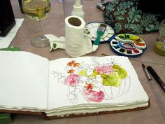 love this #watercolor #sketch from cathy johnson.