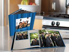 Great idea for a guest book, and a way to keep your memories from graduation and the party.    http://www.jostens.com/photobooks