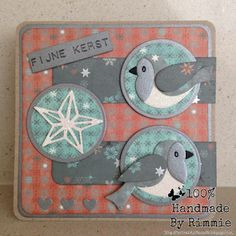 Handmade By Rimmie: Eline's birds Country Christmas, Christmas And New Year, All Things Christmas, Christmas Cards, Xmas Cards To Make, Bird Cards, Marianne Design, Scrapbook Sketches, Silver Stars