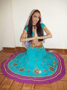 Hindú art #girl #hair #dresshindú