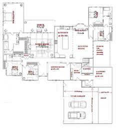 images about home plans on Pinterest   Floor Plans  House    large one story house plans   would make into bedrooms and decrease size some
