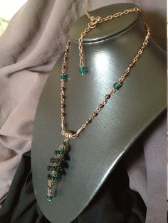 Necklace in old copper with a beautiful spiral by BoutousCreations, $69.00