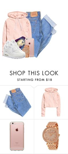 """Untitled #2806"" by alisha-caprise ❤ liked on Polyvore featuring Levi's, Incase, Michael Kors and NIKE"