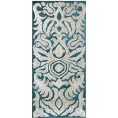 Pier One Mirrored Damask Panel - Teal found on Polyvore