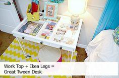 What a fun desk idea!