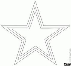 A star, Dallas Cowboys logo, american football team in the NFC East Division, Arlington and Irving, Texas coloring page