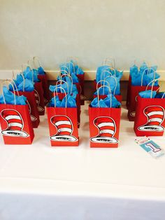 Goodie bags, cat in the hat inspire Goodie bags, cat in the hat inspire,Dr. Suess Baby Shower Goodie bags, cat in the hat inspire Related Stunningly Easy DIY Messy Buns - Hair makeupXelanah. Dr Seuss Party Ideas, Dr Seuss Birthday Party, Twin Birthday Parties, Baby Boy 1st Birthday, Birthday Party Themes, Birthday Ideas, 4th Birthday, Dr Seuss Baby Shower Ideas, Cat In The Hat Party