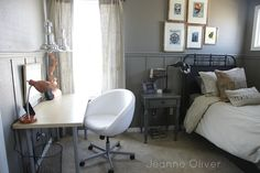 Teen Boy Bedroom Makeover {before and after} | Jeanne Oliver