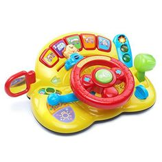 Turn and Learn Driver by VTech! Learning toys for toddlers. Fun toys for toddlers. VTech Toys for toddlers. Educational toys for toddlers! Toddler Toys, Baby Toys, Kids Toys, Children's Toys, Toddler Daycare, Toddler Stuff, Girl Toddler, Toys For Boys, Fisher Price
