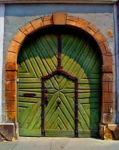 Castle Hill, Budapest, Hungary.  Green Door Buda by CultureQuest.deviantart.com on @deviantART