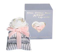 Pyramide & étui Délicatesse parfumée rose et feuilles - Atelier Catherine Masson - Ароматизаторы Atelier Masson (Франция)