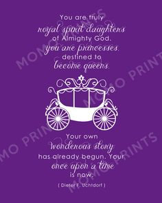 NEW You are Princesses LDS Girls Uchtdorf Print by MomoPrints